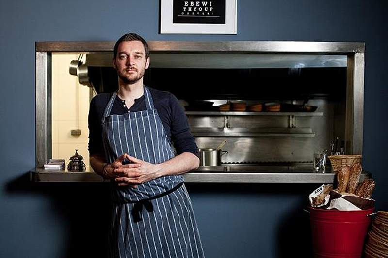 Matthew Ong, šéfkuchař restaurace Albion v Paříži, fotografie Laura Stevens.