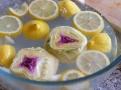 Oloupané artyčoky ponoříme do vody s citrónem, aby neztmavly