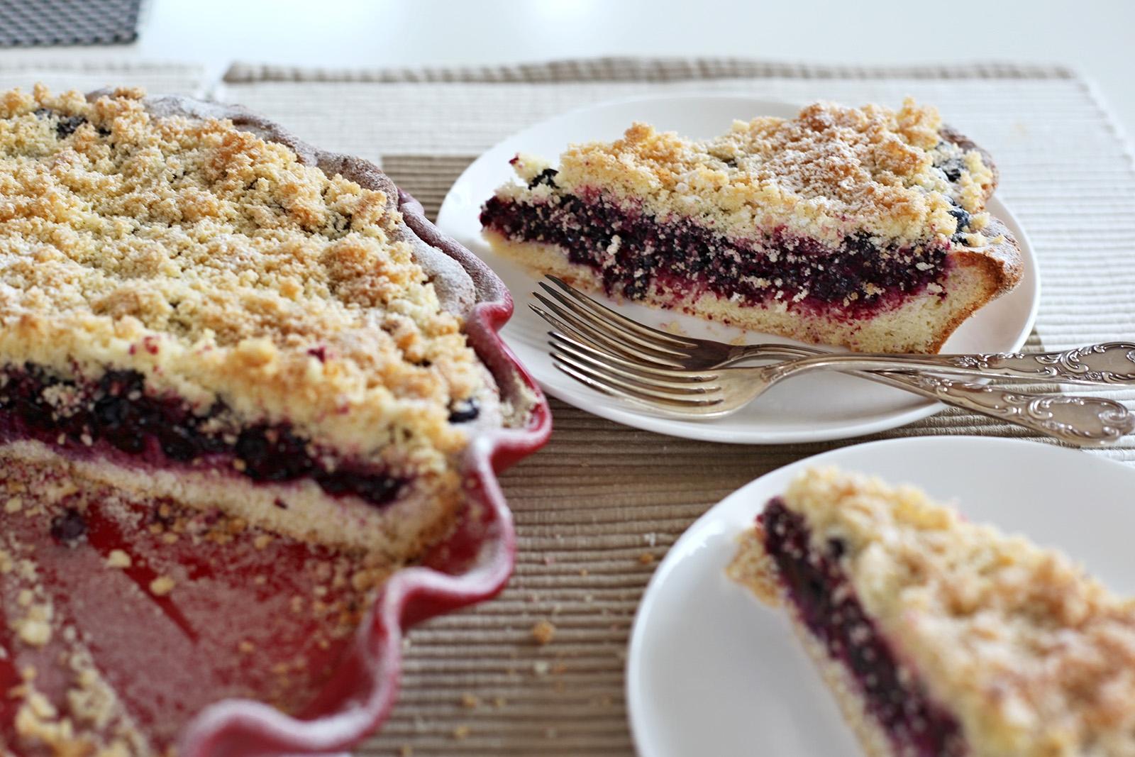 Kulatá forma dodá borůvkovým koláčům moderní twist