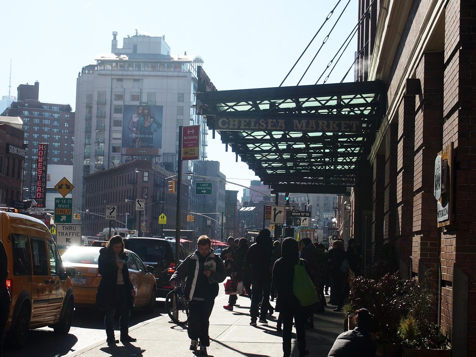 Hlavní vstup do Chelsea Market