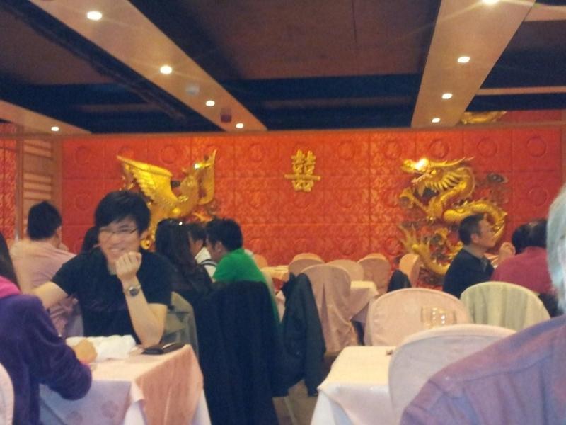 Interiér restaurace Ding HAO.