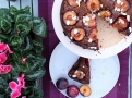 Čokoládovo mandlový dort s blumami - téměř dekadentní spojení