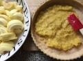 Nejdříve připravte jablečné pyré s vanilkou jako podklad