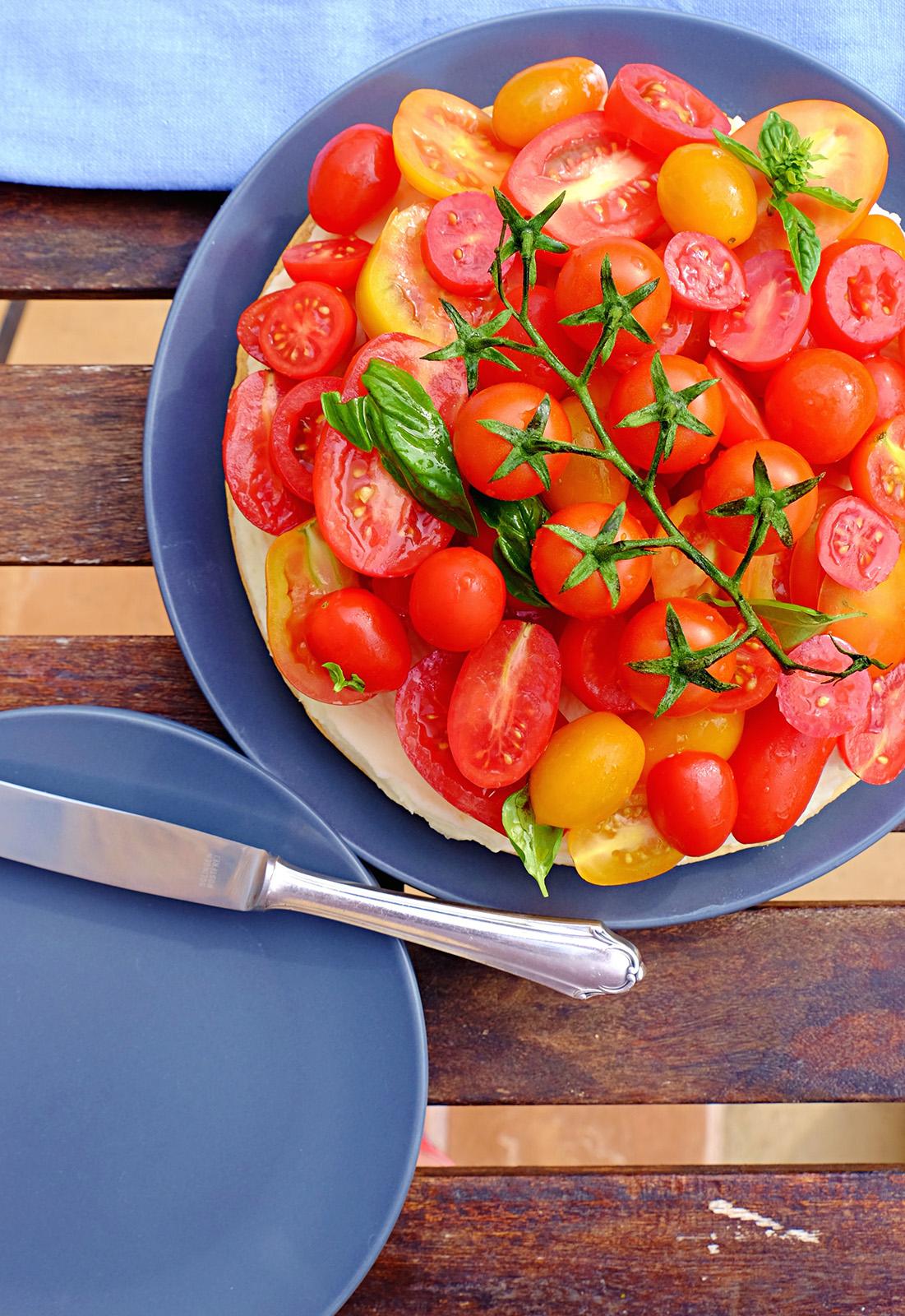 Rustikálně vyzní rajčatový cheesecake