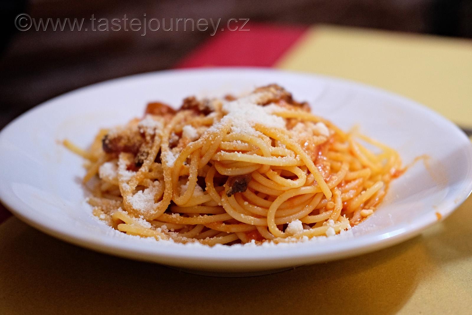 Klasická římská kuchyně - to jsou pasta alla amatriciana