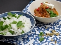 Jehněčí kari podávejte s rýží s čerstvým koriandrem