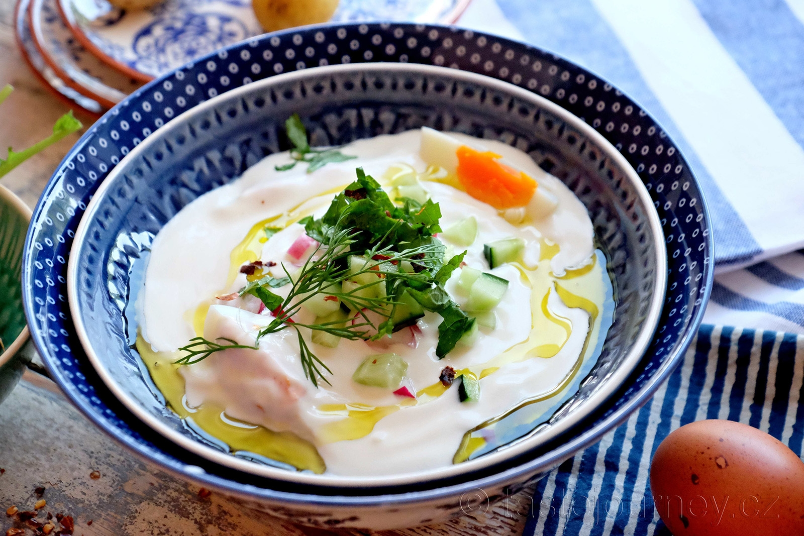 Překvapivě lahodná  a zdravá jogurtová polévka
