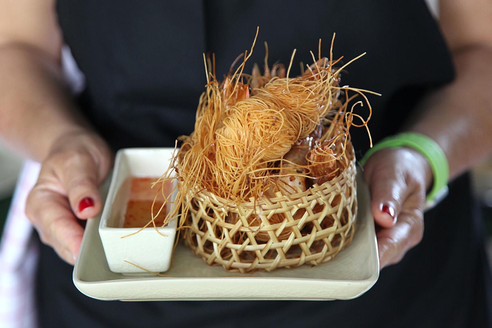 Krevety v sarongu podáváme se sweet chilli omáčkou
