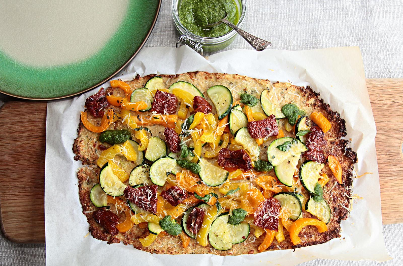 Dokonalá kombinace květákového korpusu a zeleniny