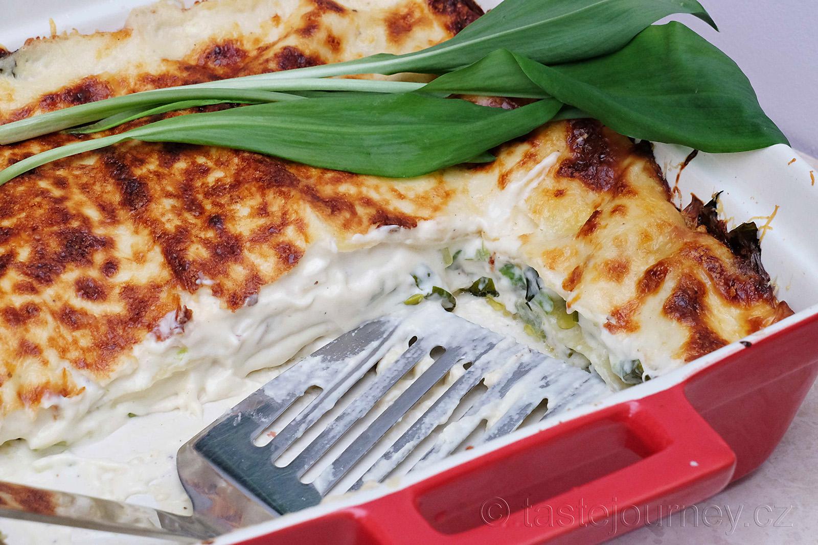 Lasagne s medvědím česnekem, pochoutka pro vegetariány