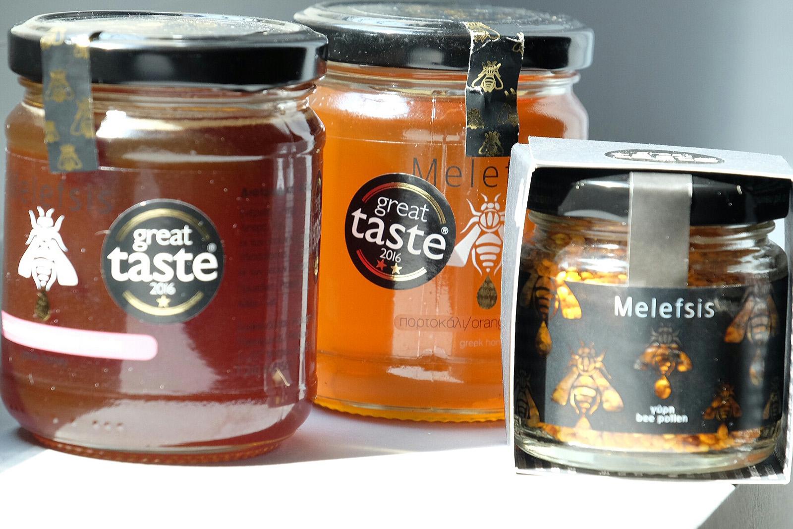 Řecké medy a pylová zrnka s oceněním Grate Taste