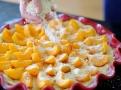 Mandlová drobenka skvěle ladí s meruňkami