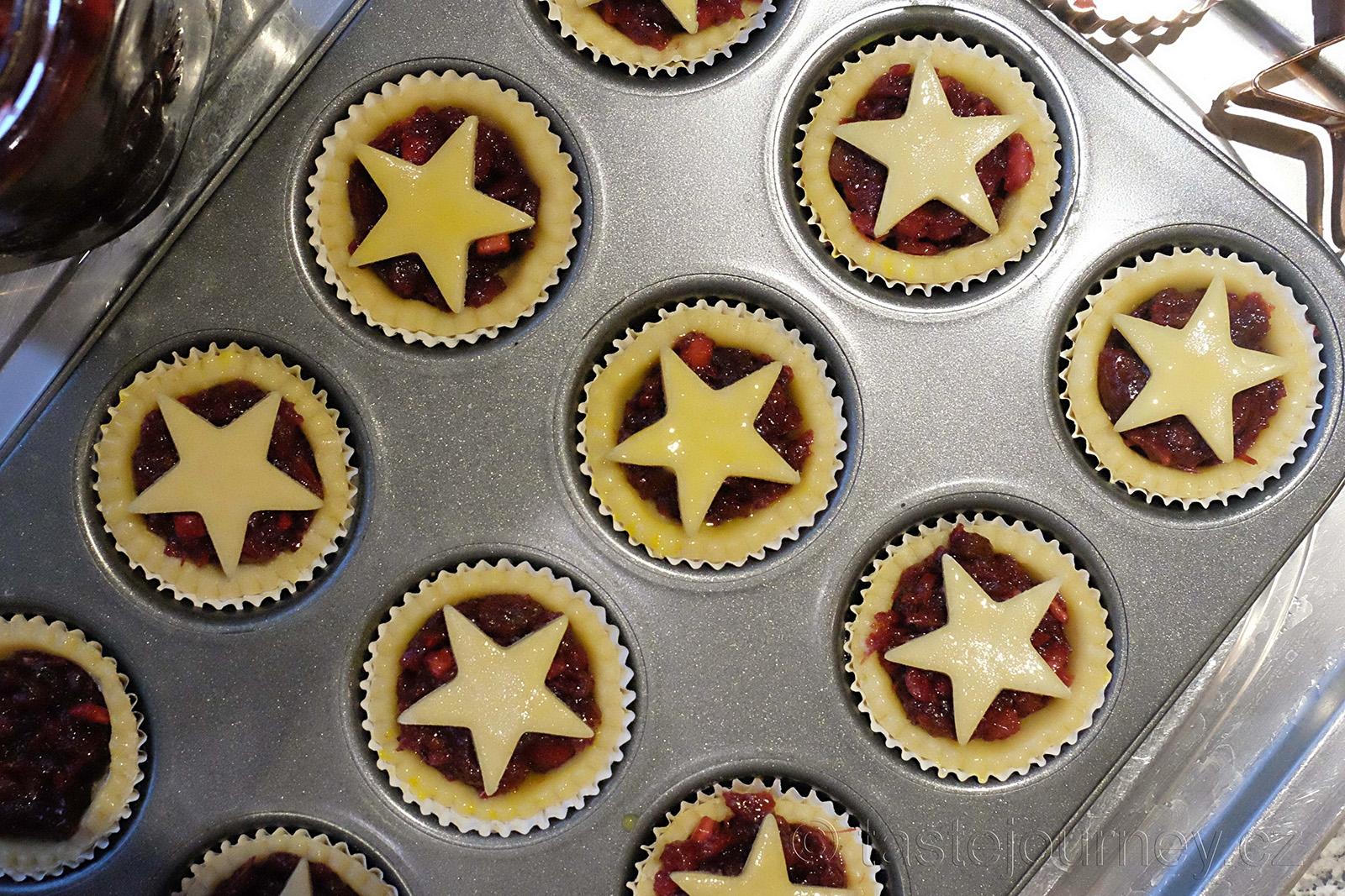 Vánoční hvězdy na mince pie