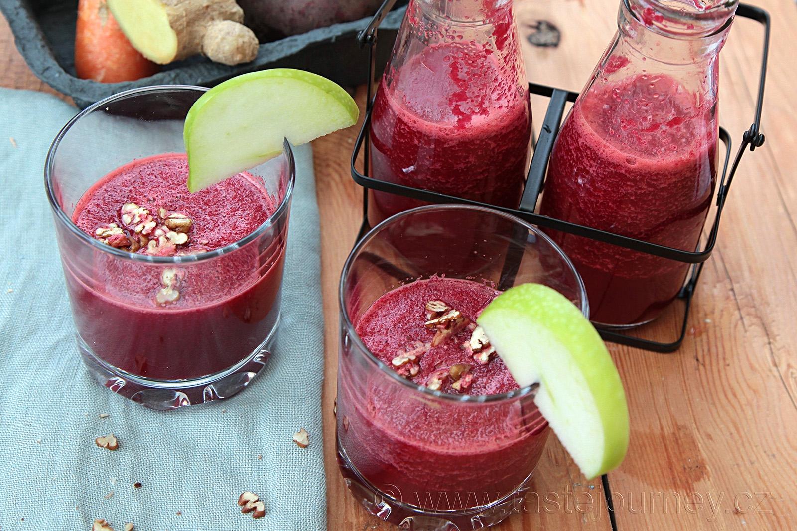 Červená řepa, mrkev a zázvor ideální kombinace pro smoothie