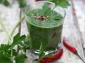 Pikantní protichřipková prevence- smoothie z kadeřávku, petržele a chilli