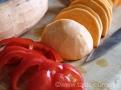 Červená paprika a batáty k zapečení