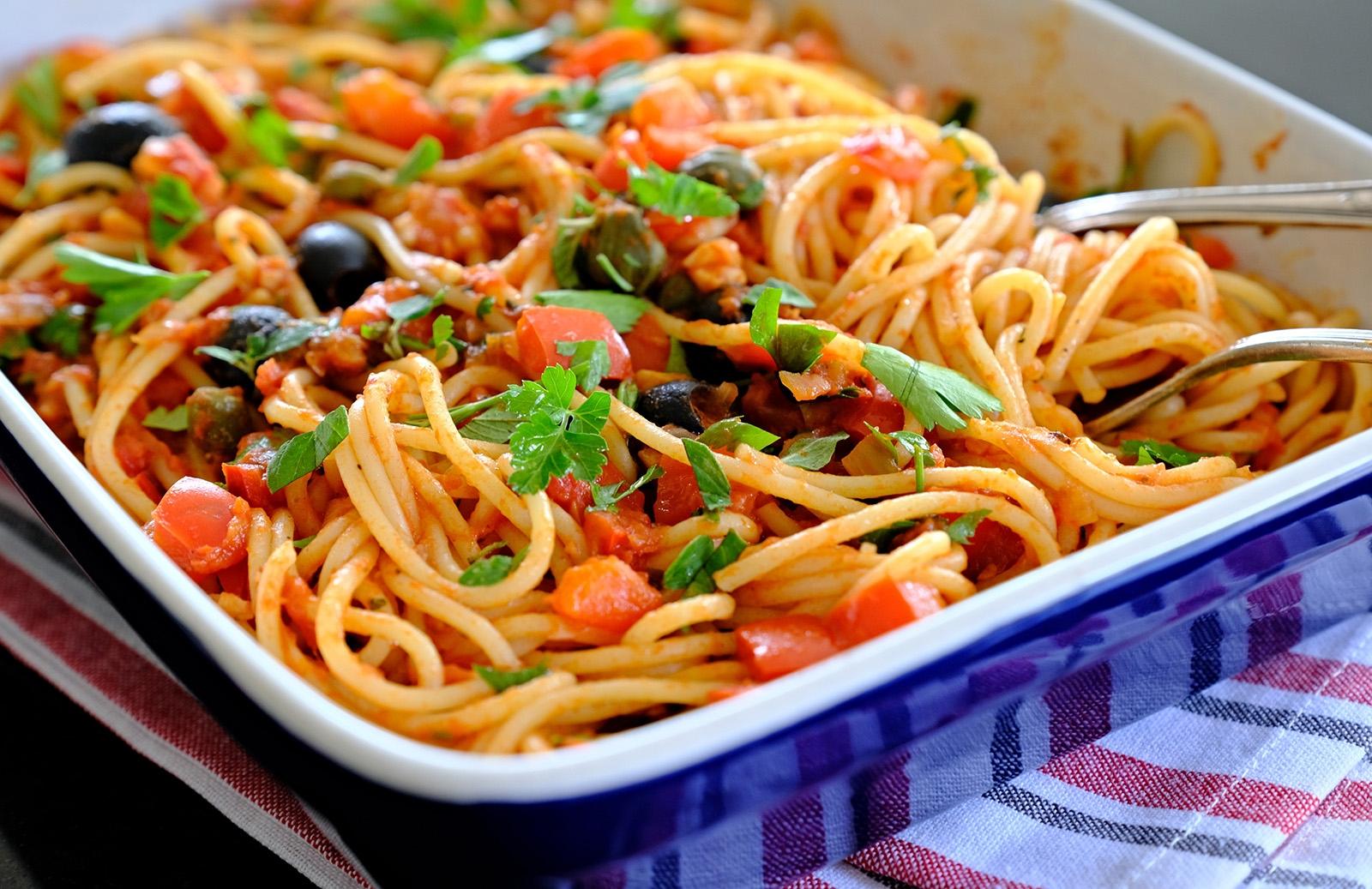 Puttanecsa - jednoduché jídlo bez masa, za to plné výrazných chutí
