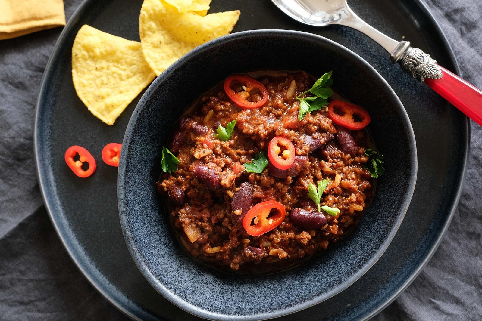 Chilli con carne. Mexická pikantní klasika pro divnou dobu