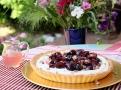 Růžový sirup ovoní třešňový koláč