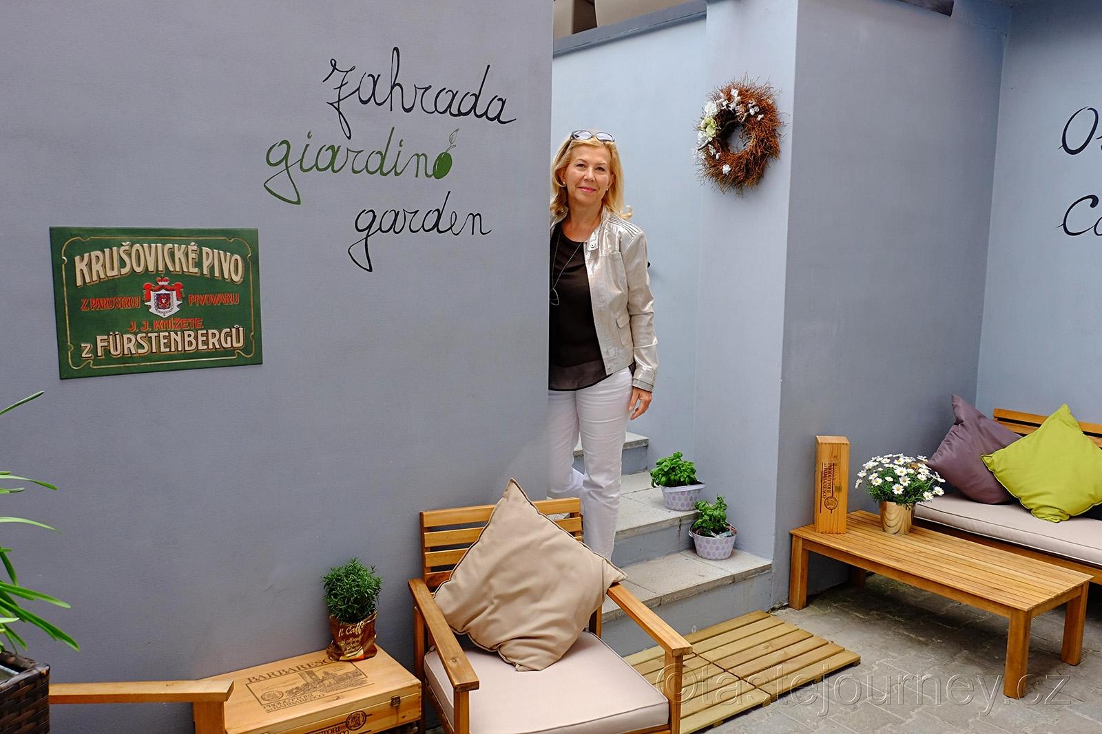 V Unico mají i zahradu