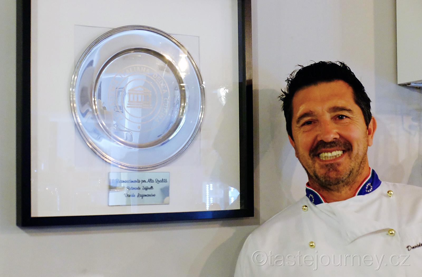 Davide se Stříbrným talířem, italským oceněním
