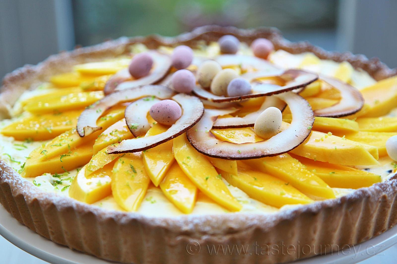 Šťavnaté mango, marakuja v krému a kokos na ozdobu doplní limetková kůra