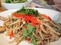 ginger chicken udon – nudle pečené na horké pánvi s kuřecím masem a zázvorem