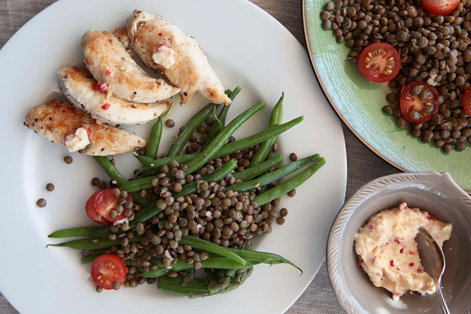 Salát z Puy čočky jako ideální příloha k masu nebo rybám
