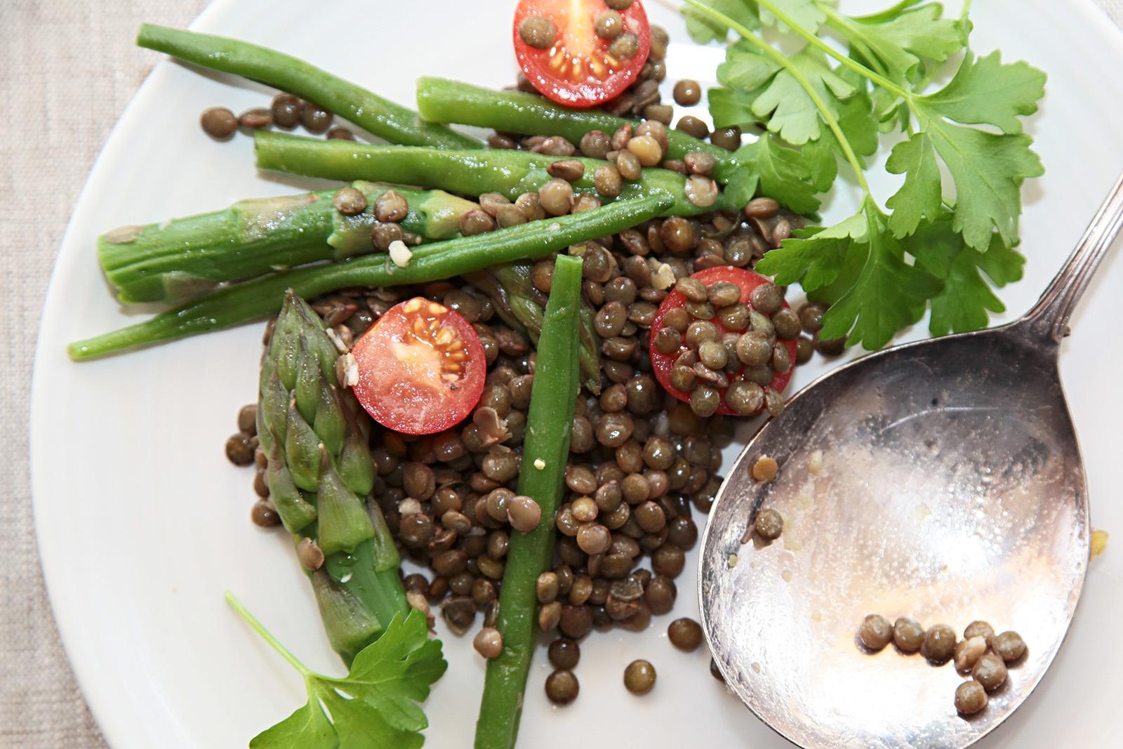 Čočkový salát servírujte i samostatně