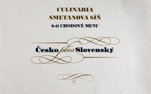 Česko Slovenský ples gastronomicky pod taktovkou Francouzské restaurace Obecního domu.
