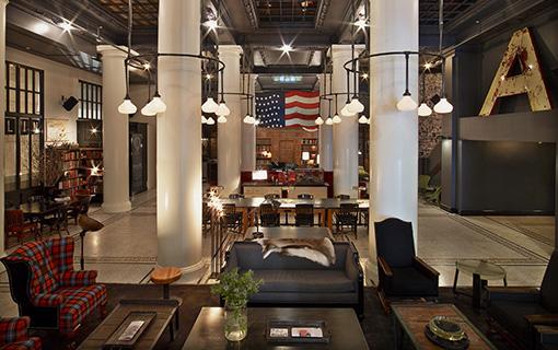 Eso mezi bary v New Yorku – Lobby bar v ACE hotelu