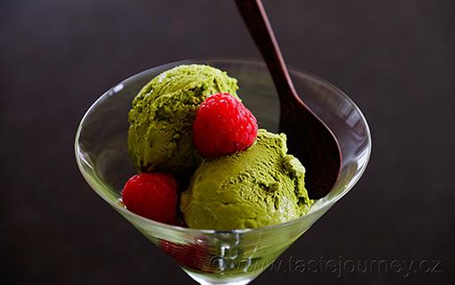 Jemná a tajemná zmrzlina z matcha čaje. Rafinovaná chuť Japonska