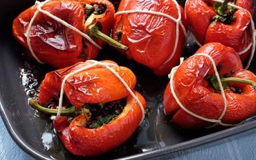 Zapékaná červená paprika s čočkou v dárkovém balení