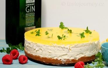 Gin a Tonic v cheesecaku s bezinkovým sirupem. Osvěžte se!