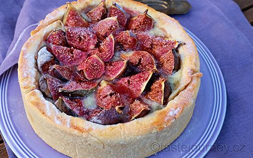 Fíkový koláč s gorgonzolou. Překvapivé souznění chutí